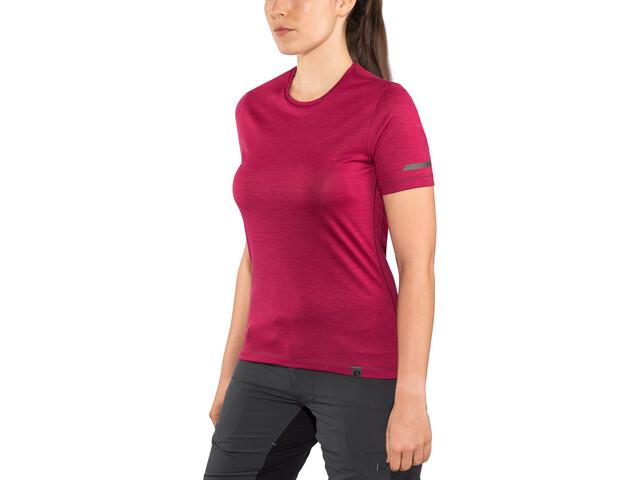 PEARL iZUMi Merino T-Shirt Femme, beet red